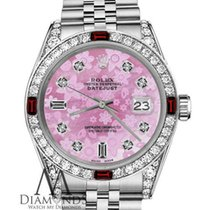Rolex Women`s Rolex 36mm Datejust Pink Flower Mop Dial 8+2...