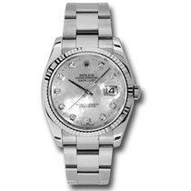 ロレックス (Rolex) Rolex Datejust 36mm - Steel Fluted Bezel -...