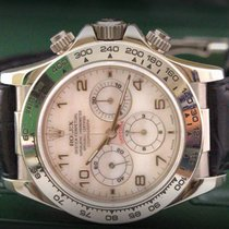 Rolex Daytona MOP Dial Never Polish White Gold Top Condiction