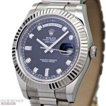 Ρολεξ (Rolex) DAY-DATE II Ref-218239 18k White Gold Diamond...