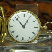 Patek Taschenuhr 18kt 750 Gold Mit Diamantrosen & Emaille...