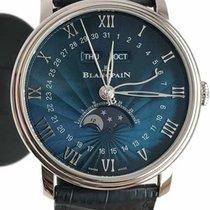 Blancpain VILLERET QUANTIÈME COMPLET BLUE DIAL 6654152955B