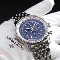 Breitling Navitimer World A24322 Blue Dial Stainless Steel