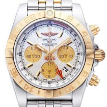 百年靈 (Breitling) Chronomat 44 GMT Edelstahl 18 kt Roségold...