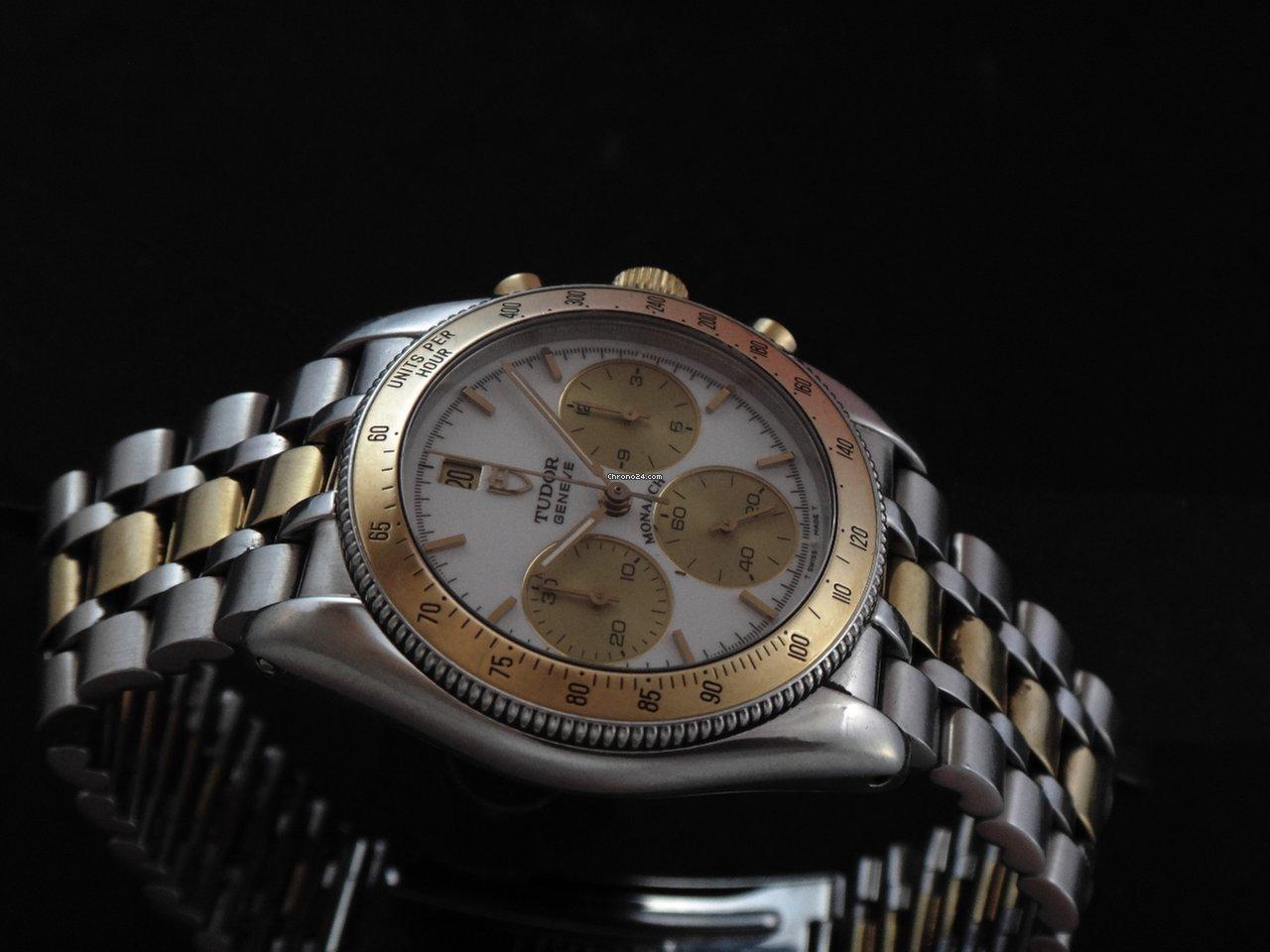Tudor monarch steel gold chronograph sold on chrono24 for Tudor signatures