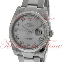 Rolex Datejust 36mm, Silver Rhodium Dial, White Gold Fluted...