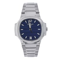 Patek Philippe Nautilus 35mm Ladies Stainless Steel Watch Blue...
