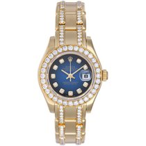 Rolex Ladies Masterpiece/Pearlmaster Gold Diamond Watch 80298...