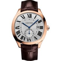 Cartier Drive Automatic WGNM0003 Rose Gold Leather NEW Silver...