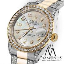 Rolex Ladies 26mm Rolex Oyster Perpetual Datejust Custom Tone...