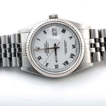Rolex Mens 16234 Datejust - White Roman Dial - Jubilee Band