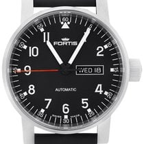 Fortis Spacematic Pilot Professional Steel Mens Watch Day Date...