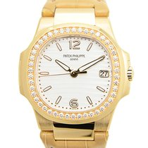Patek Philippe Nautilus 18 K Rose Gold With Diamonds Silvery...