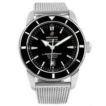 Breitling Superocean Heritage 46 Black Dial Mesh Bracelet...