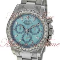Rolex Cosmograph Daytona Ice Blue Baguette Dial Baguette Bezel...