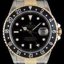 Rolex S/S & 18k Y/G O/P Black Dial GMT-Master II 16713