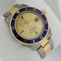 Rolex Submariner 16613  Pre-Owned SS 18k YG Dial