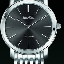 Paul Picot FIRSHIRE extra flat dial black strap steel 3754SG7601