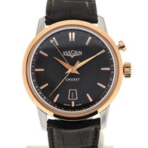 Vulcain 50s Presidents'Watch 42 Pink Gold Charcoal Guilloche