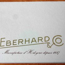 Eberhard & Co. vintage Warranty Certificate Papers rare