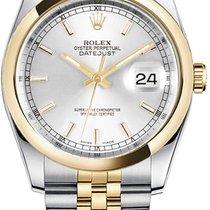 Rolex Datejust, Ref. 116203 - silber Index  ZB/Jubileeband