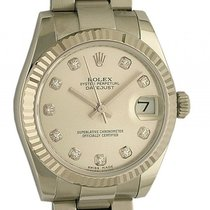 Rolex Datejust Medium Stahl Weißgold Diamond Automatik Oyster...