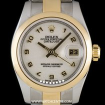 Rolex S/S & Gold O/P Cream Jubilee Dial Datejust Ladies...