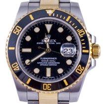 Rolex Submariner 116613LN Gold Steel 2010 Black Dial 40mm
