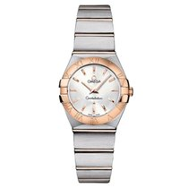 Omega Constellation Silver Dial Stainless Steel and 18K Rose...