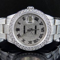 Rolex Mens Stainless Steel Rolex Datejust Oyster Steel 38 MM...