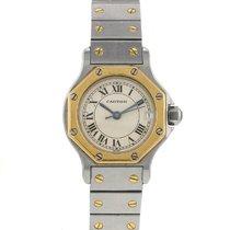 Cartier Santos en or et acier Vers 1990