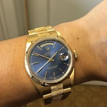 Rolex 18248 Day-Date Presidential Blue Dial Bark Bezel Watch