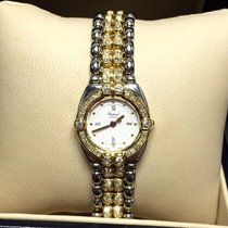 Chopard Gstaad 18k Solid Gold & Ss Ladies Watch W/ Diamond...