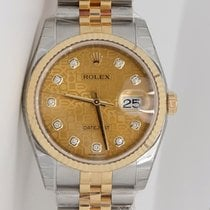 Rolex Datejust 36mm champagne dial in stainless steel and...
