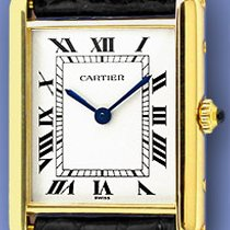 "Cartier ""Classic Tank"" Strapwatch."