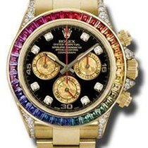 Rolex daytona rainbow factory sapphires yellow  gold