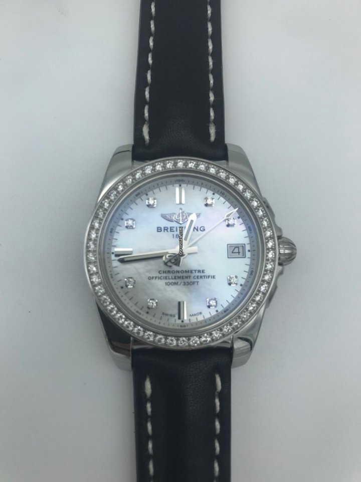 Breitling galactic 36 diamonds and mop eladó 1 743 765 Ft Trusted Seller  státuszú eladótól a Chrono24-en f3ab512028