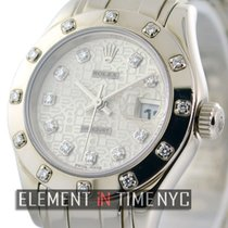 Rolex Datejust Pearlmaster 18k White Gold Factory Diamonds...