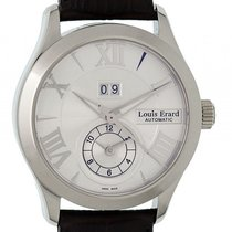 Louis Erard 1931 GMT Big Date Stahl Automatik 40mm