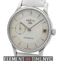 Zenith Elite Ultra Slim Steel Diamond Bezel 33mm