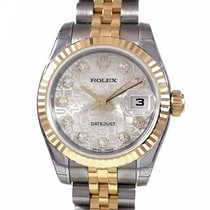 Rolex Lady DATEJUST S/G Diamond Dial New/Unworn 179173