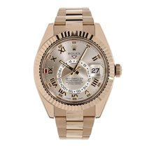 Rolex SKY-DWELLER 42mm 18K Everose Gold Watch 2016