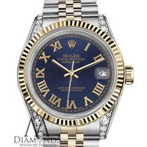 Rolex 36mm Datejust Two-tone Navy Blue Gold Roman 18k Stainles...