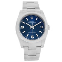 Rolex No Date Mens Blue Dial Stainless Steel Mens Watch 116000