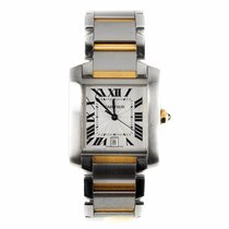 Cartier Tank Francaise Steel and Gold Watch 2302 (Pre-Owned)