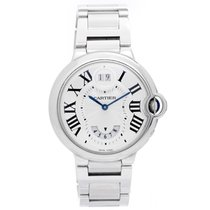 Cartier Ballon Bleu Two Timezone Midsize Stainless Steel Watch...
