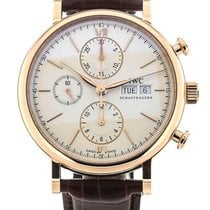 IWC IW391020 Portofino 18kt Rose Gold Leather Band Automatic...