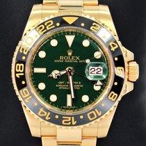 Rolex Gmt Master II 116718 18k Y Gold Green Dial Ceramic Bezel...