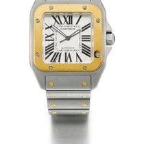 Cartier | A stainless Steel And Yellow Gold square Automatic...