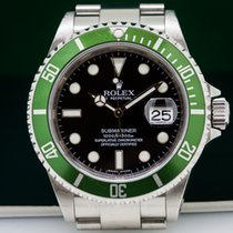Rolex 16610LV 16610 LV Submariner 50th Anniversary SS Green...